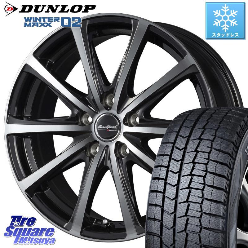 DUNLOP WINTER MAXX 02 ウィンターマックス WM02 ダンロップ スタッドレスタイヤ スタッドレス 215/50R17 MANARAY EUROSPEED V25 ホイールセット 4本 17インチ 17 X 7 +38 5穴 114.3