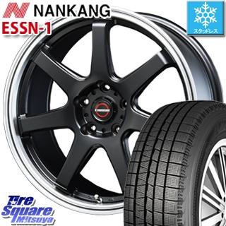NANKANG TIRE ESSN-1 2019年製 スタッドレス スタッドレスタイヤ 235/40R18 BLEST EUROMAGIC Type S-07 ホイールセット 4本 18インチ 18 X 8.5 +45 5穴 114.3