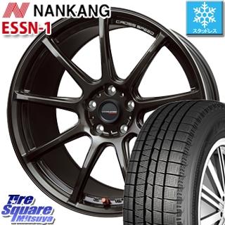 NANKANG TIRE ESSN-1 2019年製 スタッドレス スタッドレスタイヤ 225/40R18 HotStuff クロススピード RS9 ハイパーエディション 軽量 ホイールセット 4本 18インチ 18 X 7.5 +38 5穴 114.3