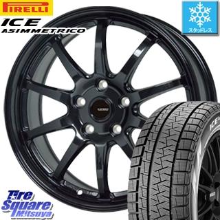 ピレリ ICE ASIMMETRICO アイスアシンメトリコ スタッドレス スタッドレスタイヤ 235/55R18 HotStuff G-SPEED G-04 ブラック ホイールセット 4本 18インチ 18 X 7.5 +38 5穴 114.3