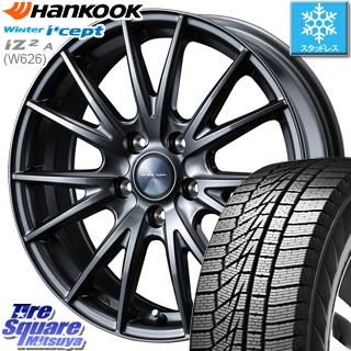 HANKOOK WINTER ICEPT W626 2018年製造品 スタッドレス スタッドレスタイヤ 185/60R15 WEDS ウェッズ ヴェルヴァ SPORT(スポルト)在庫 ホイールセット 4本 15インチ 15 X 6 +43 5穴 100