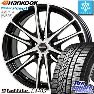 HANKOOK WINTER ICEPT W626 2018年製造品 スタッドレス スタッドレスタイヤ 185/60R15 HotStuff Laffite ラフィット LW-03 ホイールセット 4本 15インチ 15 X 6 +43 5穴 100