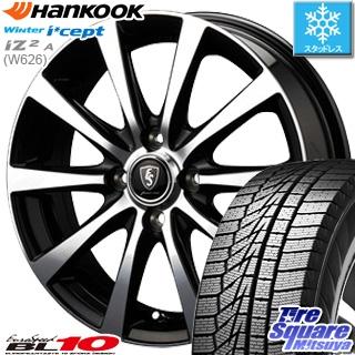 HANKOOK WINTER ICEPT W626 2018年製造品 スタッドレス スタッドレスタイヤ 165/70R14 MANARAY EUROSPEED BL10 ホイールセット 4本 14インチ 14 X 5.5 +38 4穴 100