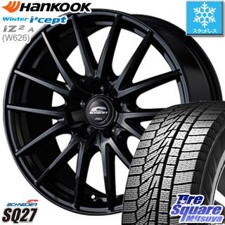 HANKOOK WINTER ICEPT W626 2018年製造品 スタッドレス スタッドレスタイヤ 205/65R15 MANARAY SCHNEDER SQ27 ブラック ホイールセット 4本 15インチ 15 X 6 +52 5穴 114.3