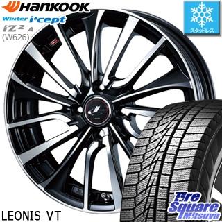 HANKOOK WINTER ICEPT W626 2018年製造品 在庫 スタッドレス スタッドレスタイヤ 185/70R14 WEDS ウェッズ Leonis レオニス VT ホイールセット 4本 14インチ 14 X 5.5 +42 4穴 100