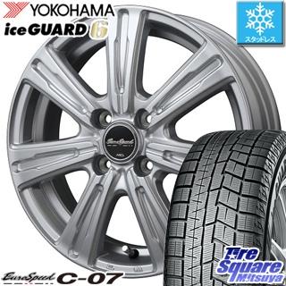 YOKOHAMA ヨコハマ ice GUARD6 アイスガード ig60 スタッドレス スタッドレスタイヤ 175/70R14 MANARAY Euro Speed C-07 ホイールセット 4本 14インチ 14 X 5.5 +45 4穴 100
