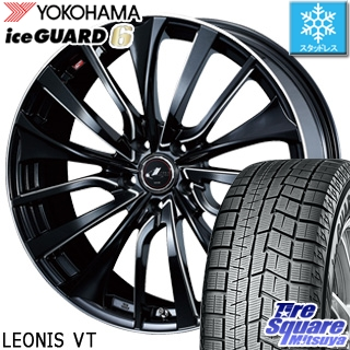 YOKOHAMA ヨコハマ ice GUARD6 アイスガード XL ig60 スタッドレス スタッドレスタイヤ 245/45R19 WEDS ウェッズ Leonis レオニス VT ホイールセット 4本 19インチ 19 X 8 +43 5穴 114.3