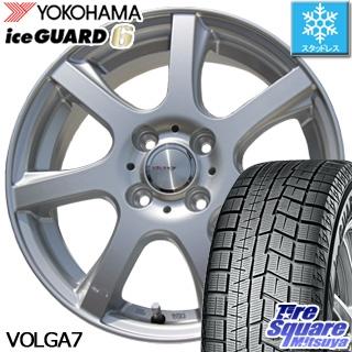 YOKOHAMA ヨコハマ ice GUARD6 アイスガード ig60 スタッドレス スタッドレスタイヤ 165/65R14 WEDS ヴォルガ7 VOLGA7 在庫限定 ホイールセット 4本 14インチ 14 X 4.5 +45 4穴 100