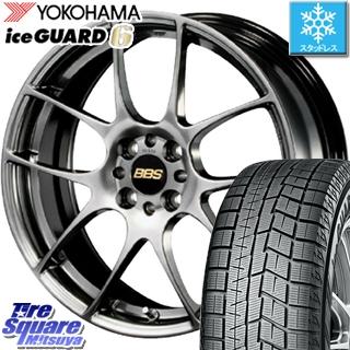 YOKOHAMA ice GUARD6 ig60 アイスガード ヨコハマ スタッドレスタイヤ スタッドレス 195/45R17 BBS RF 鍛造1ピース ホイールセット 4本 17インチ 17 X 7 +48 4穴 100