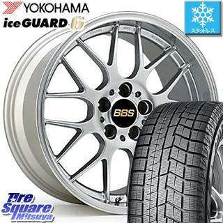 【6/10は最大P45倍】 YOKOHAMA iceGUARD6 ig60 アイスガード ヨコハマ スタッドレスタイヤ 235/45R18 BBS RG-R 鍛造1ピース ホイールセット 18インチ 18 X 8.0J +40 5穴 114.3
