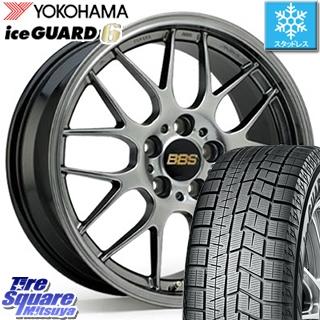 【6/10は最大P45倍】 YOKOHAMA iceGUARD6 ig60 アイスガード ヨコハマ スタッドレスタイヤ 235/40R19 BBS RG-R 鍛造1ピース ホイールセット 19インチ 19 X 8.0J +42 5穴 114.3