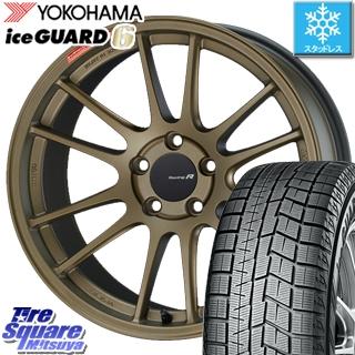 【6/25は最大26倍】 インサイト YOKOHAMA iceGUARD6 ig60 アイスガード ヨコハマ スタッドレスタイヤ 225/40R18 ENKEI エンケイ Racing Revolution GTC01RR ホイールセット 18 X 8.5J +42 5穴 114.3