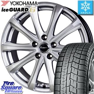 YOKOHAMA スタッドレスタイヤ ヨコハマ ice GUARD6 アイスガード ig60 スタッドレス 205/65R16 HotStuff エクシーダー E04 平座仕様(トヨタ車専用) 4本 ホイールセット 16インチ 16 X 6.5 +39 5穴 114.3