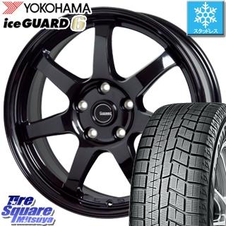 プレマシー ステップワゴン エスクァイア YOKOHAMA iceGUARD6 ig60 アイスガード ヨコハマ スタッドレスタイヤ 195/65R15 HotStuff G-SPEED G-03 ブラック ホイールセット 15インチ 15 X 6.0J +53 5穴 114.3