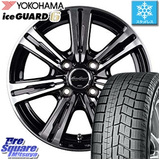 YOKOHAMA ice GUARD6 ig60 アイスガード ヨコハマ スタッドレスタイヤ スタッドレス 185/60R15 MANARAY EuroSpeed BC-7 ホイールセット 4本 15 X 5.5 +50 4穴 100