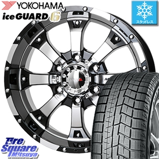YOKOHAMA スタッドレスタイヤ ヨコハマ ice GUARD6 アイスガード ig60 スタッドレス 225/40R18 MKW MK-46 ダイヤカットグロスブラック ホイールセット 4本 18インチ 18 X 8.5 +45 5穴 114.3