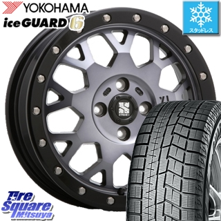 YOKOHAMA スタッドレスタイヤ ヨコハマ ice GUARD6 アイスガード ig60 スタッドレス 165/65R14 MLJ XTREME-J エクストリームJ XJ04 ホイールセット 4本 14インチ 14 X 4.5 +43 4穴 100