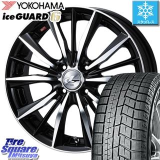 YOKOHAMA スタッドレスタイヤ ヨコハマ ice GUARD6 アイスガード ig60 スタッドレス 155/55R14 WEDS ウェッズ Leonis レオニス VX ホイールセット 4本 14インチ 14 X 4.5 +45 4穴 100