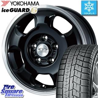 【6/10は最大P45倍】 YOKOHAMA iceGUARD6 ig60 アイスガード ヨコハマ スタッドレスタイヤ 195/65R15 WEDS 36583 ヴィセンテ05 ブラックポリッシュ ホイールセット 15インチ 15 X 6.0J +45 5穴 114.3