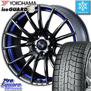 YOKOHAMA ice GUARD6 ig60 アイスガード ヨコハマ スタッドレスタイヤ スタッドレス 245/40R18 WEDS WedsSport SA-35R ウェッズ スポーツ ホイールセット 4本 18インチ 18 X 8.5 +50 5穴 114.3