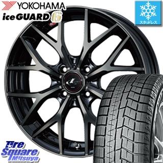 YOKOHAMA スタッドレスタイヤ ヨコハマ ice GUARD6 アイスガード ig60 スタッドレス 165/65R14 WEDS ウェッズ Leonis レオニス MX 4本 ホイール 14インチ 14 X 5.5 +42 4穴 100