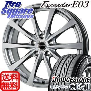 ブリヂストン REGNO レグノ GRV2 サマータイヤ 215/55R17 HotStuff エクシーダー E03 4本 ホイールセット 17インチ 17 X 7 +38 5穴 114.3