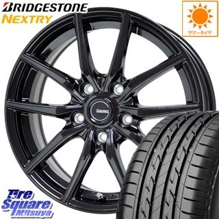 ブリヂストン NEXTRY ネクストリー サマータイヤ 215/60R17 HotStuff G.speed G-02 ブラック ホイールセット 4本 17インチ 17 X 7 +48 5穴 114.3