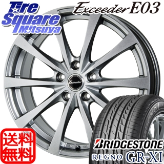 ブリヂストン REGNO レグノ GR-XI サマータイヤ 215/45R17 HotStuff エクシーダー E03 4本 ホイールセット 17インチ 17 X 7 +38 5穴 114.3