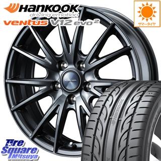 HANKOOK ハンコック ventusV12evo2 ベンタス K120 サマータイヤ 225/50R18 WEDS ウェッズ ヴェルヴァ SPORT(スポルト) ホイールセット 4本 18インチ 18 X 7 +48 5穴 100