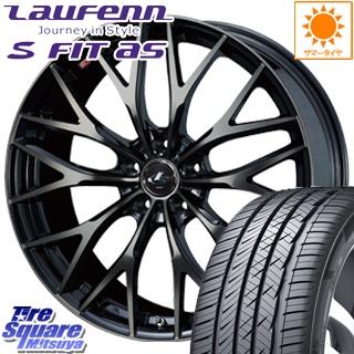 HANKOOK ハンコック Laufenn S Fit AS LH01 ラウフェン サマータイヤ 215/55R17 WEDS 37417 レオニス MX ウェッズ Leonis ホイールセット 4本 17インチ 17 X 6.5 +53 5穴 114.3