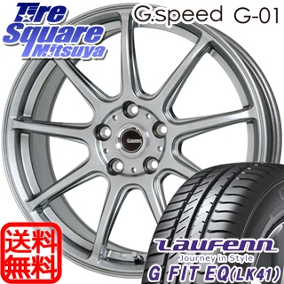 HANKOOK ハンコック Laufenn ラウフェン G Fit EQ LK41 サマータイヤ 215/60R17 HotStuff 軽量設計!G.speed G-01 ホイールセット 4本 17インチ 17 X 7 +55 5穴 114.3
