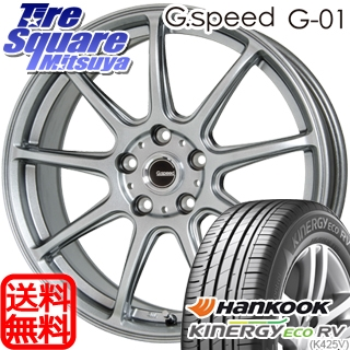HANKOOK ハンコック KINERGY ECO RV K425V サマータイヤ 215/55R17 HotStuff 軽量設計!G.speed G-01 ホイールセット 4本 17インチ 17 X 7 +55 5穴 114.3