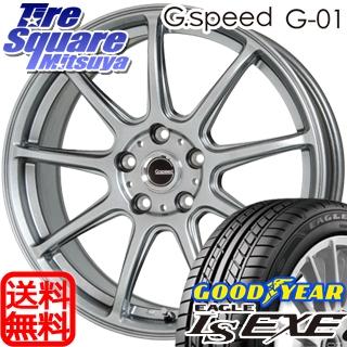 グッドイヤー EAGLE イーグル LS EXE サマータイヤ 215/45R18 HotStuff 軽量設計!G.speed G-01 ホイールセット 4本 18インチ 18 X 7.5 +48 5穴 114.3