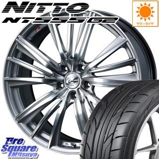 NITTO ニットー NT555 G2 サマータイヤ 215/45R18 WEDS ウェッズ Leonis レオニス FY ホイールセット 4本 18インチ 18 X 8 +42 5穴 114.3