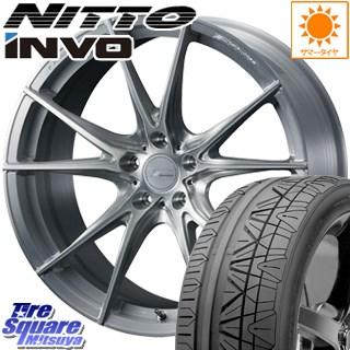 NITTO INVO インボ ニットー サマータイヤ 225/40R19 WEDS F ZERO FZ-2 鍛造 FORGED ホイールセット 4本 19 X 8 +38 5穴 114.3