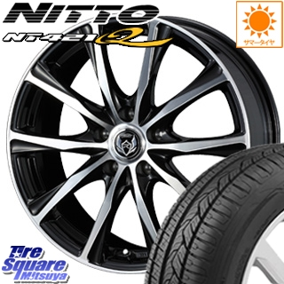 NITTO ニットー NT421Q サマータイヤ 235/55R18 WEDS 37475 ウェッズ RIZLEY ライツレー ZM ホイールセット 4本 18インチ 18 X 7.5 +38 5穴 114.3