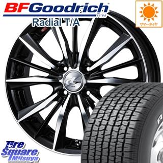 BF Goodrich グッドリッチ Radial ラジアル TA T/A サマータイヤ 195/60R15 WEDS 33238 レオニス VX ウェッズ Leonis ホイールセット 4本 15インチ 15 X 6 +43 4穴 100