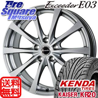 KENDA ケンダ KAISER KR20 限定 サマータイヤ 215/55R17 HotStuff エクシーダー E03 4本 ホイールセット 17インチ 17 X 7 +38 5穴 114.3