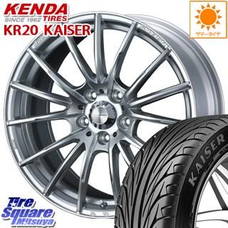 KENDA ケンダ KAISER KR20 限定 サマータイヤ 225/40R18 WEDS WedsSport ウェッズ スポーツ SA-35R ホイールセット 4本 18インチ 18 X 7.5 +35 5穴 114.3