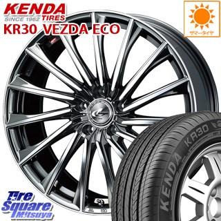 KENDA ケンダ VEZDA ECO KR30 サマータイヤ 205/45R17 WEDS 37754 レオニス CH ウェッズ Leonis ホイールセット 4本 17インチ 17 X 6.5 +42 4穴 100
