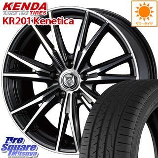 KENDA ケンダ KR201 ミニバン サマータイヤ 215/45R18 WEDS 38353 ライツレー DK ウェッズ RIZLEY ホイールセット 18インチ 18 X 8.0J +45 5穴 114.3