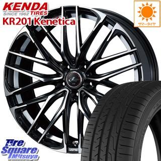 KENDA ケンダ KR201 ミニバン サマータイヤ 225/55R18 WEDS 38335 レオニス SK ウェッズ Leonis ホイールセット 18インチ 18 X 8.0J +42 5穴 114.3