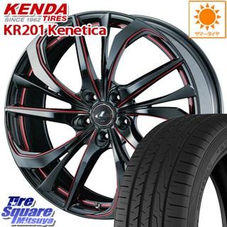 KENDA ケンダ KR-201 サマータイヤ 215/45R17 WEDS ウェッズ Leonis レオニス TE ホイールセット 4本 17インチ 17 X 7 +47 5穴 114.3