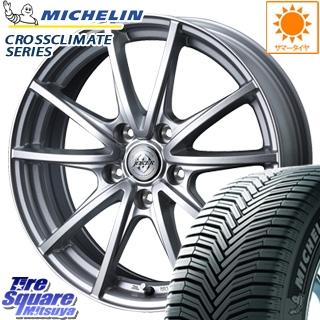 ミシュラン CROSSCLIMATE クロスクライメイト + オールシーズンタイヤ 205/65R15 WEDS ジョーカーハンター 在庫限り ホイールセット 4本 15インチ 15 X 6 +43 5穴 114.3