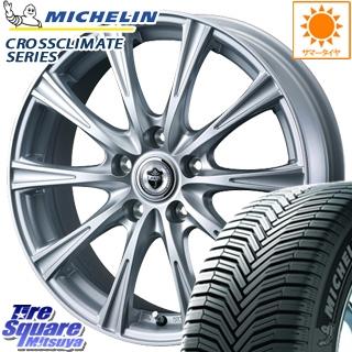 ミシュラン CROSSCLIMATE クロスクライメイト + オールシーズンタイヤ 195/60R16 WEDS ジョーカーショット 在庫限定 ホイールセット 4本 16インチ 16 X 6 +42 5穴 100