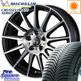 ミシュラン CROSSCLIMATE クロスクライメイト + オールシーズンタイヤ 185/65R15 WEDS ウェッズ RIZLEY ライツレー KG ホイールセット 4本 15インチ 15 X 6 +53 5穴 114.3