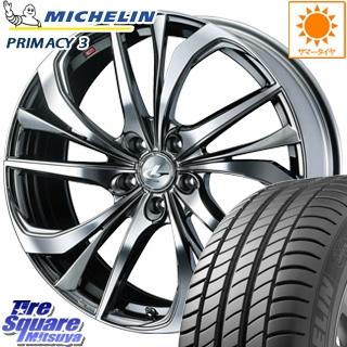 ミシュラン PRIMACY 3 プライマシー3 正規品 サマータイヤ 215/60R17 WEDS ウェッズ Leonis レオニス TE ホイールセット 4本 17インチ 17 X 7 +47 5穴 114.3