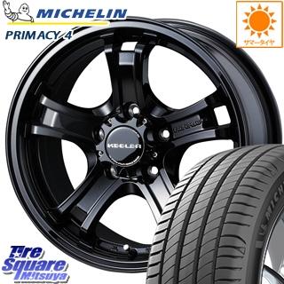 ミシュラン PRIMACY4 プライマシー4 市販品 正規品 サマータイヤ 205/55R16 WEDS 35196 ウェッズ キーラーフォース CAP付 在庫 ホイールセット 16インチ 16 X 7.0J +38 5穴 114.3