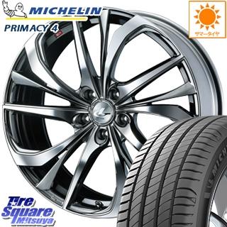 ミシュラン PRIMACY4 プライマシー4 輸入品 サマータイヤ 225/45R17 WEDS ウェッズ Leonis レオニス TE ホイールセット 17インチ 17 X 7.0J +47 5穴 100