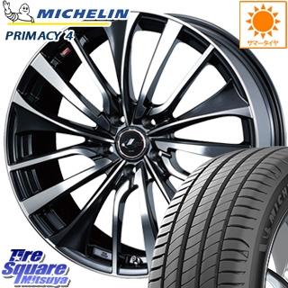 ミシュラン PRIMACY4 プライマシー4 正規品 サマータイヤ 215/50R17 WEDS ウェッズ Leonis レオニス VT ホイールセット 4本 17インチ 17 X 7 +53 5穴 114.3